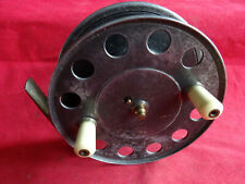 """A RARE SIZE 4 1/2"""" J W YOUNG TRADE PATTERN 9 CENTREPIN REEL RETAILED BY J PEEK"""