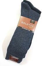 Gold Toe Mens Socks Big & Tall XL Sz 12 - 16 Blue Black 3 Pair Moisture Control