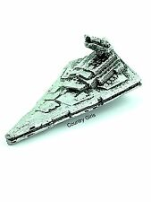 Star Wars Micro Machines Imperial Star Destroyer Star Ship 1993 Pewter Silver