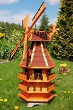 Norddeutsche Windmühle mit Solar Beleuchtung kugelgelagert 1,4m