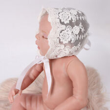 Newborn Baby Girl Photo Photography Prop Lace Floral Hat Cap Beanie Bonnet N2CX