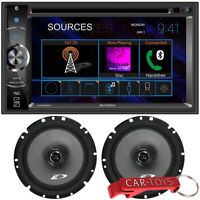 "Jensen CDR5620 6.2"" 2-DIN Car Stereo Multimedia Receiver &Alpine Speakers Bundle"