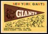 1959 Topps Team Pennant Giants #53 *Noles2148* 10=Free Ship