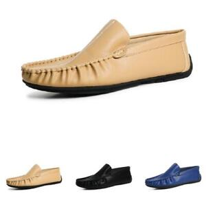 Mens Pumps Slip on Loafers Shoes Driving Moccasins Flats Breathable Walking 44 D