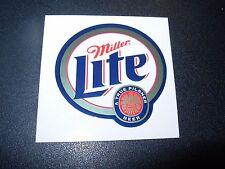 "MILLER LITE Foil Logo pilsner 2"" STICKER decal craft beer brewery brewing"