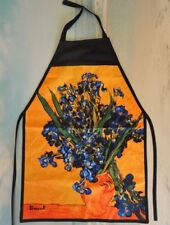 BARBEQUE APRON Copy of Vincent van Gogh Oil Painting *IRISES* Adjustable Strap