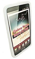 SILICONE TPU COVER CASE BIANCO per SAMSUNG i9220 Galaxy Note + Proteggi Schermo