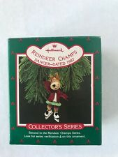 "Hallmark Ornament ""Reindeer Champs""  Dancer 1987 Collector's Series #2"