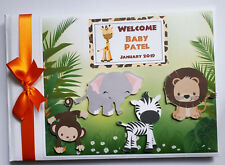 Safari Birthday guest book, Jungle animals birthday guest book, album, gift