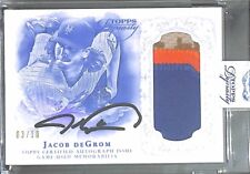 2015 Topps Dynasty Patch Autograph #AP=JDE4 Jacob DeGrom No 3 of 10