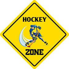 """*Aluminum* Hockey Zone Funny Metal Novelty Sign 12""""x12"""""""