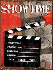 "SHOWTIME Cinema Decor Media Room Decor Tin Signs Theater Sign 12"" x 16"""