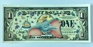 Disney Dollar $1 Dumbo with Barcode 2005 T Series UNC