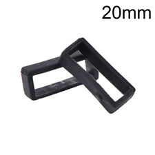 2x 14mm-26mm Rubber Silicone Watch Band Loop Strap Small Holder Locker Keeper Fn