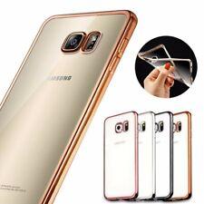 Samsung Galaxy S7 Handy Hülle Silikon Cover Schutzhülle Bumper Case Klar Schwarz