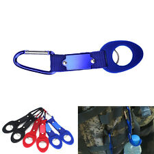 Carabiner Water Bottle Holder Camping Hiking Aluminum Rubber Buckle Hook gba