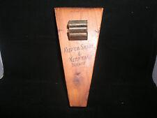 Vintage Knife Block With Sharpener - Keep-em Sharp and Keep-em Handy