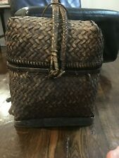 Indonesian woven rice Basket/ back pack