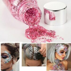 Eye Glitter Nail Hair Body Face Glitter Gel Art Flash Heart Loose Sequins Cream