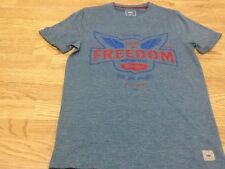 Men's Size Small Denim Blue Freedom Motorcycle T-Shirt - Brand New With Tags