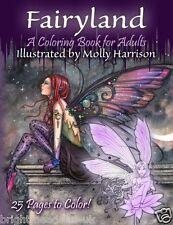 Fairyland Adult Colouring Book Molly Fantasy Mystical Enchanted Magical Fairies