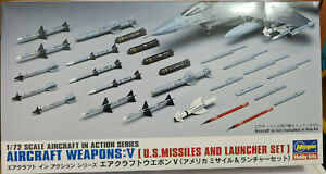 U.S.Aircraft Weapons V US Missiles and Launcher Set - Hasegawa Kit 1:72 X72:9