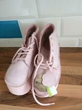 Kickers Womens Pastel Pink Size 4 Platform Boots Tall Leather Shoes, BNWTags