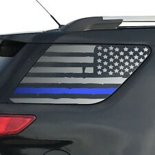 Distressed USA Flag Blue Line Decal for Ford Explorer window 2011-2019 - QR4-FE5