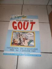 Astérix Question de goût Affiche Expo de l'espace santé de la SécuritéSociale 89