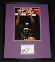 Shaquille O'Neal Signed Framed 16x20 Photo Display Lakers LSU