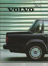 VOLVO 760 GLE, 760 GLE TURBO DIESEL and 760 TURBO SALES BROCHURE 1986