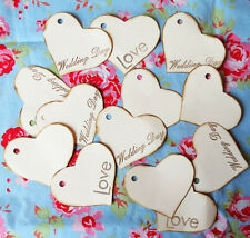 Vintage shabby chic HEARTS Weddings Wishing tree. Ivory card Handmade Pack of 20