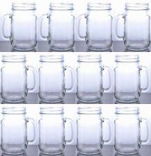 Rustic Bridal Mason Jar with Handles Clear Mason Drinking Jar Set Lot of 12 jars