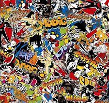 """8 x A4 """"Super Hero"""" Stickerbomb ~ Adesivo FOGLI bombardamenti """"bolla libera"""""""