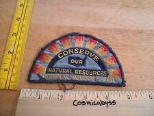 National Wildlife Federation Vintage patch Conserve our natural resources sun