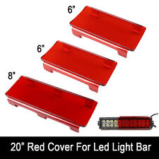 "20"" Inch Snap on Red LED Light Bar Lens Covers for Jeep Offroad 4X4 120W 126W"
