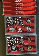 2004 S UNITED STATES  90% SILVER PROOF SET ORIGINAL GOVERNMENT BOX + COA LOT 5