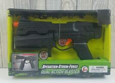 Operation Storm Force Dual Action Blaster Transforming Toy Pistol to Machine Gun