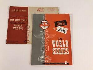 1948 world series Cleveland Indians Boston Braves Official Souvenir Program Mint