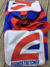 More details for vintage retro 1980s poundstretcher holdall sports shoulder gym cabin bag