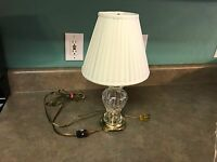 VINTAGE WATERFORD CRYSTAL & BRASS TABLE LAMP #6354
