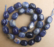 """10x13mm Natural Blue Sodalite Freeform Loose Beads 15.5"""""""