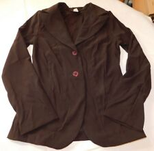 Eye Candy Long Sleeve Jacket Blazer shoulder pads M medium cut 1724 EUC