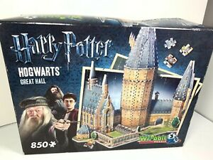 Harry Potter Wrebbit 3D Puzzle - Hogwarts Great Hall - 850  New w/ Box Wear