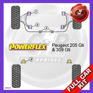 Peugeot 205 & 309 Not Front Roll Bar Bushes 17mm Powerflex Complete Bush Kit
