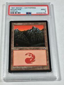 Graded Mountain A PSA 9 MINT Portal 1997 MTG Magic Vintage Pop 4 (None Higher)!