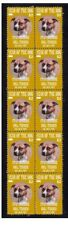 STAFFORDSHIRE BULL TERRIER STRIP OF 10 MINT DOG STAMP 1