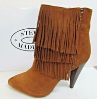 Steve Madden Size 9 Brown Leather Ankle Boots New Womens Shoes