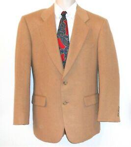 Sport Coat Blazer 100% Camel Hair Size 38R 39R Beige Wool Jacket Evan Picone