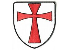 KNIGHTS TEMPLAR SHIELD EMBROIDERED BIKER PATCH